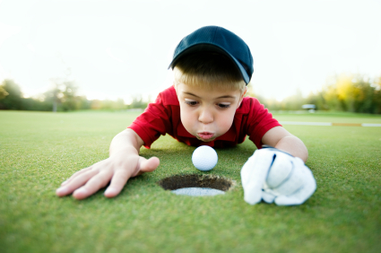 Golfing without a putter?  No problem!