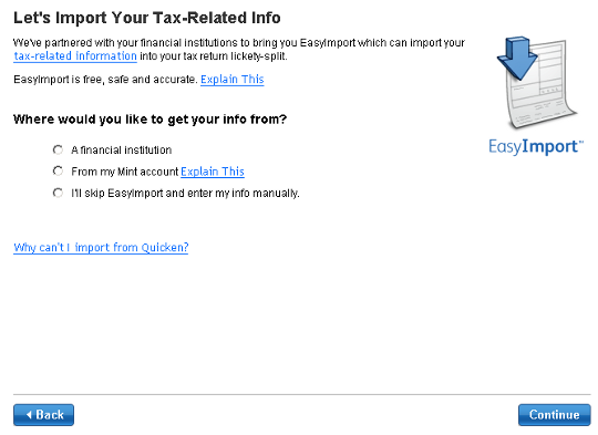 TurboTax Will Import Your Mint Account