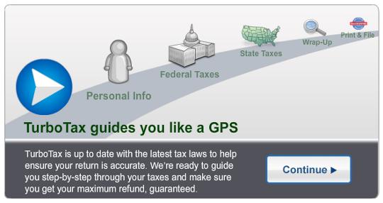 TurboTax Online is like a GPS