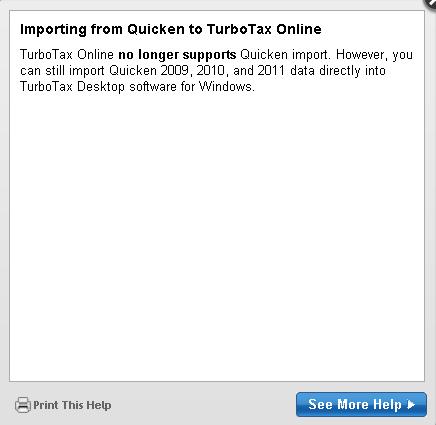 Intuit's TurboTax Hates Intuit's Quicken