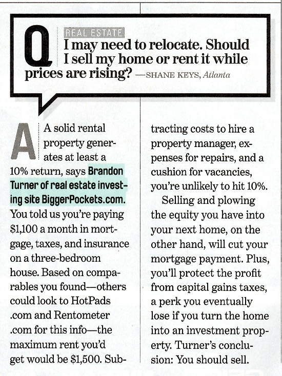 Sell Vs. Rent