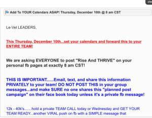 Le-vel Thrive Facebook-Campaign