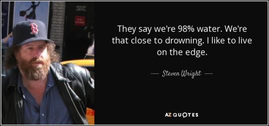 Steven Wright on Drowning
