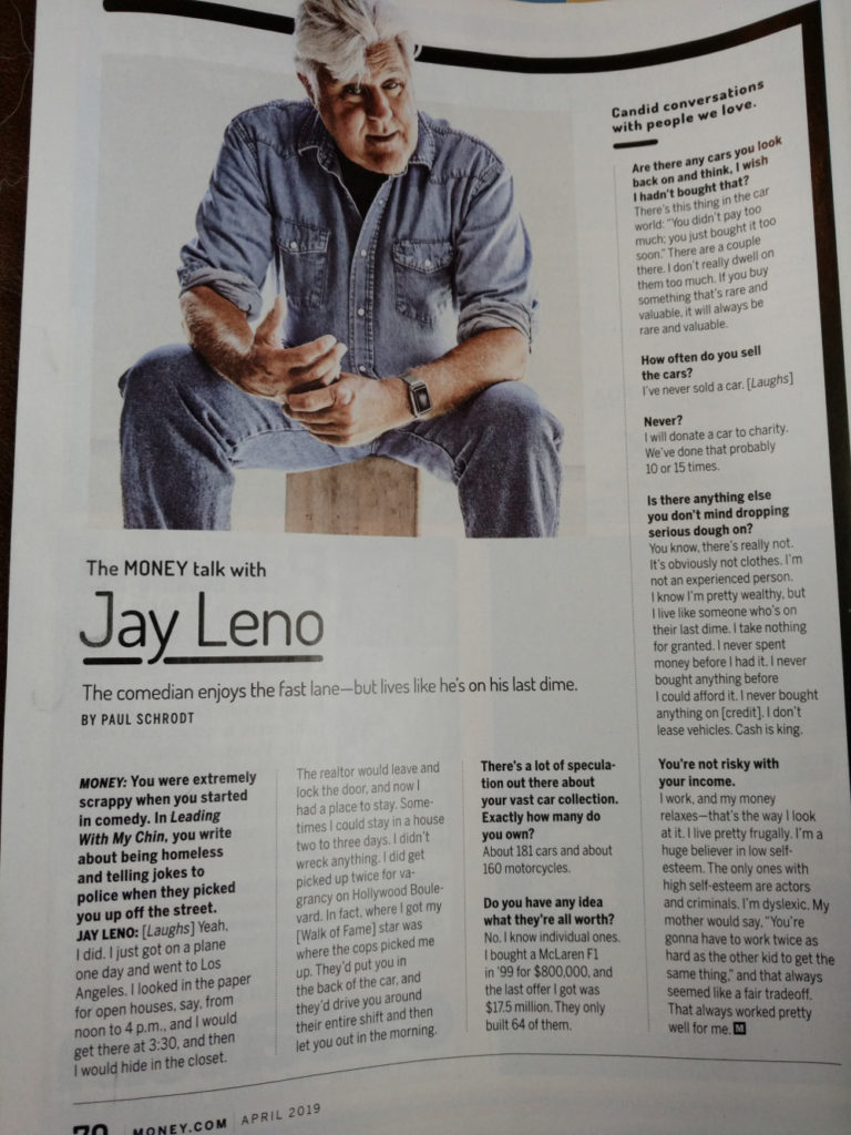 Jay Leno Money Magazine