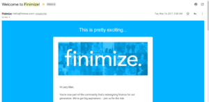Finimize Welcome