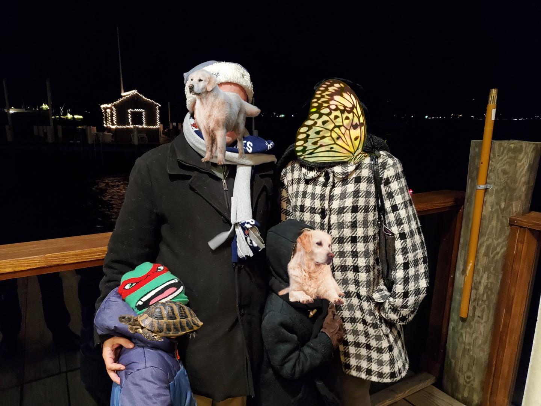 Santa Boat Family